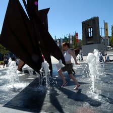New Fountain at Eyre Square, 1 June 2006